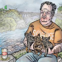 Arthur Shawcross and Kittens