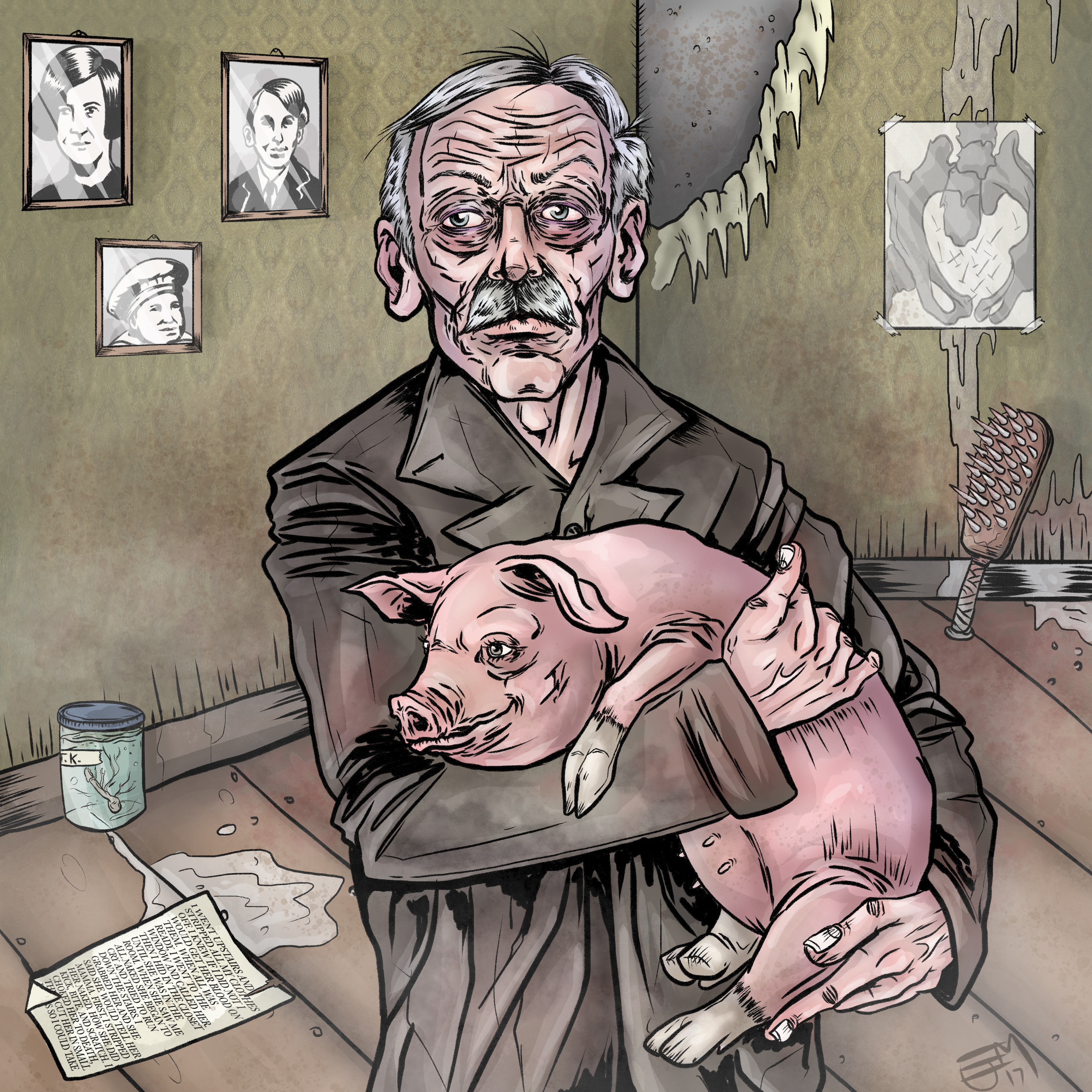 Albert Fish and a Cute Pig