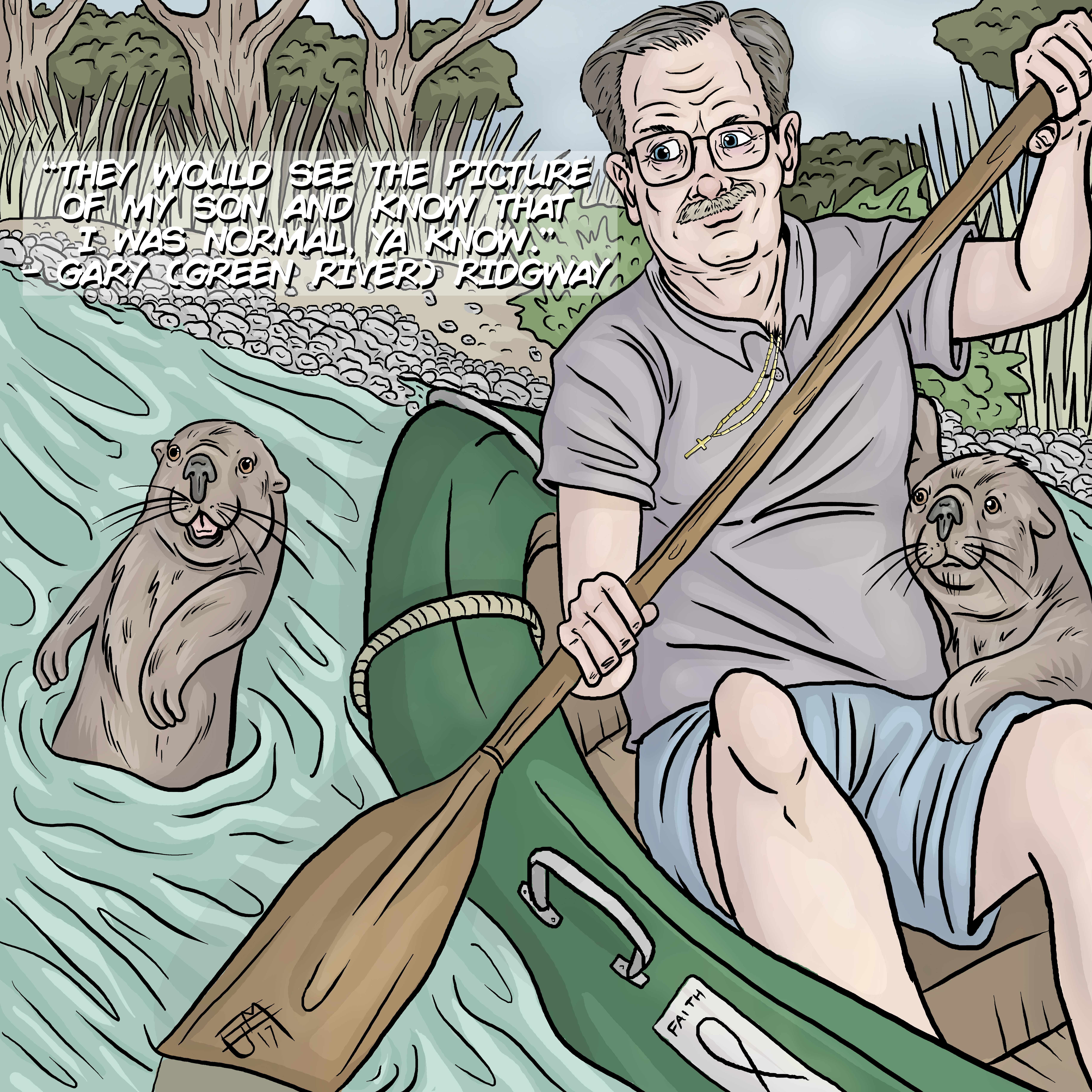 Gary Ridgway with Friendly Otters