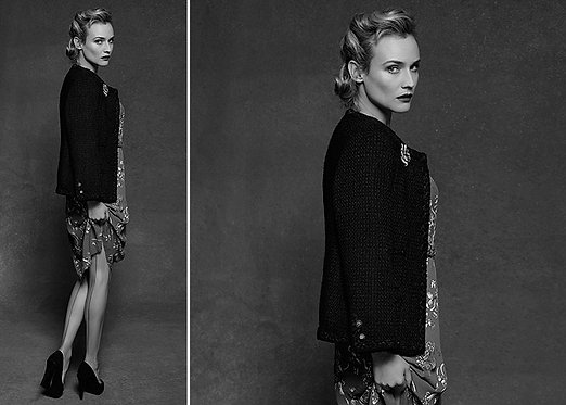 Karl Lagerfeld _ Diane Kruger for the little black jacket