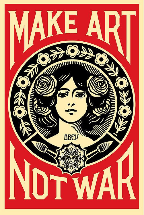 Shepard Fairey _ OBEY _ Make Art Not War