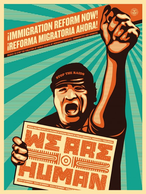 Shepard Fairey _ OBEY & Ernesto Yerena _We are Human Protest