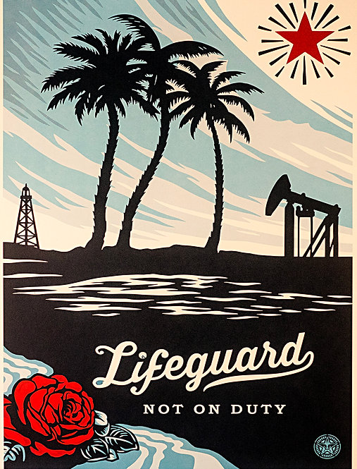 Shepard Fairey _ OBEY GIANT _ Lifeguard Not on Duty