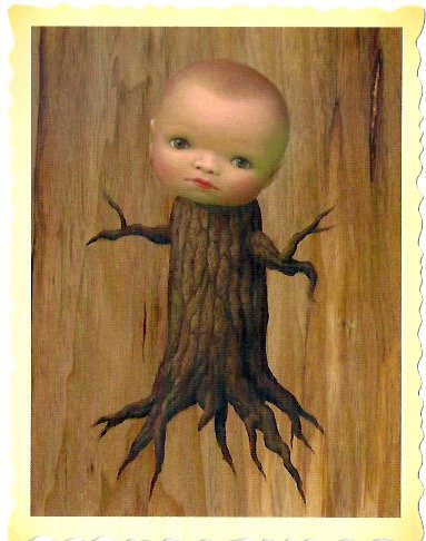 Mark Ryden_Tree Show_Stump baby