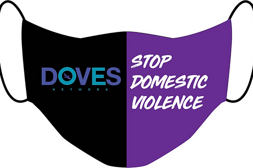 Stop Domestic Violence Mask w/ Ear Adjusters