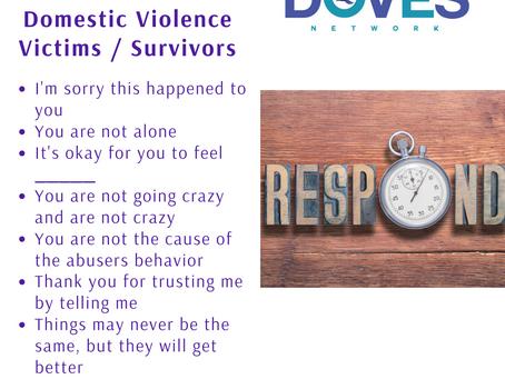 Sample Responses to Domestic Violence Victims / Survivors