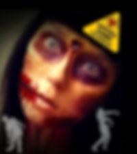 En zombie ifrån ett zombieescape event