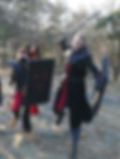 riddare ifrån en medeltida strid