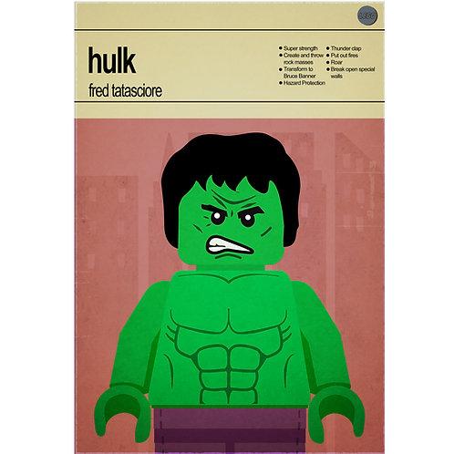 Lego Super Heroes - Hulk - Photo Print