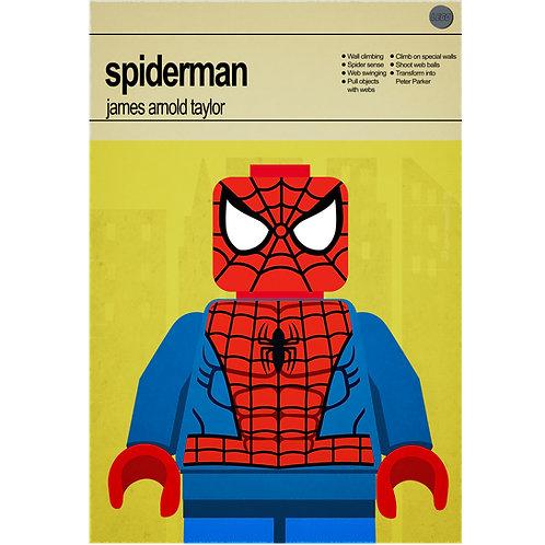 Lego Super Heroes - Spiderman - Photo Print