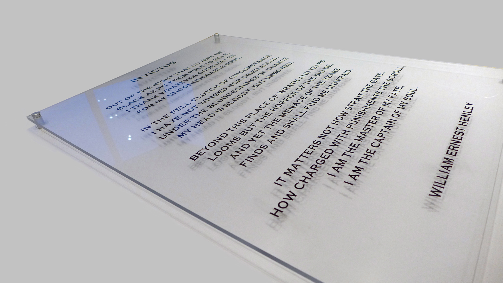 Typography Acrylic artwork prints