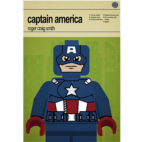 Lego Super Heroes - Captain America - Photo Print