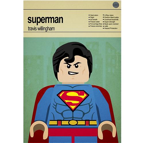 Lego Super Heroes - Superman - Photo Print