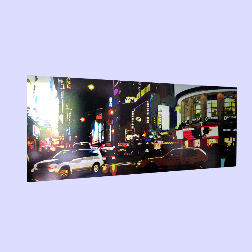 Large format metal prints