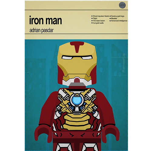 Lego Super Heroes - Iron Man - Photo Print
