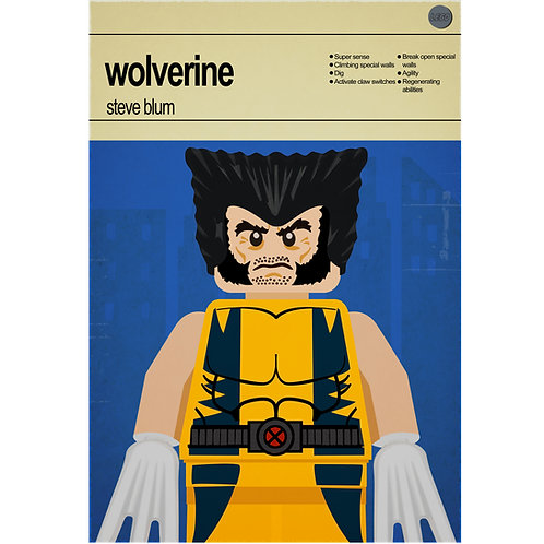 Lego Super Heroes - Wolverine - Photo Print