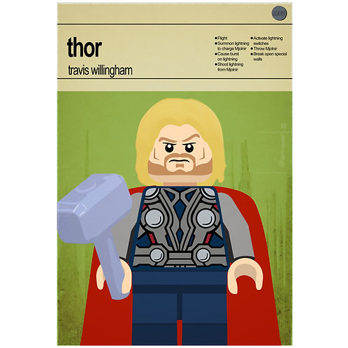 Lego Super Heroes - Thor - Photo Print