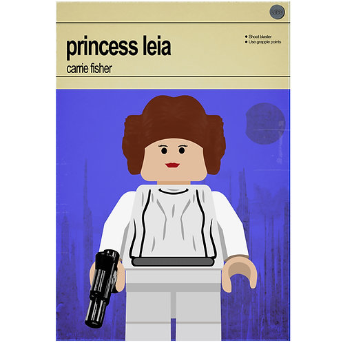 Lego Star Wars - Princess Leia - Photo Print