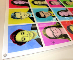 Warhol style acrylic print