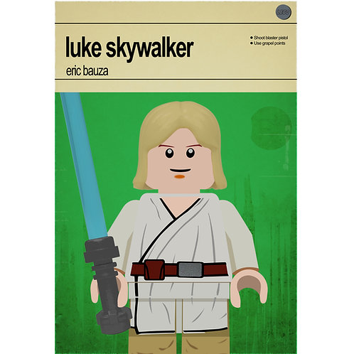 Lego Star Wars - Luke Skywalker - Photo Print