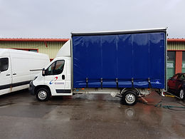Curtain Sided Luton Courier Van Liverpool