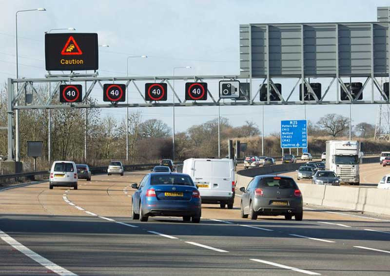 Smart motorway and speed limits
