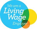 Accredited Living Wage Employer logo for CK Couriers.