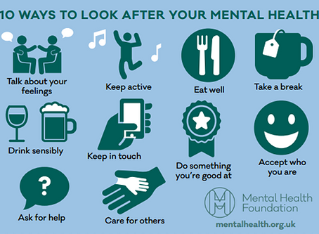 Mental Health Awareness Week 13-19 May 2019