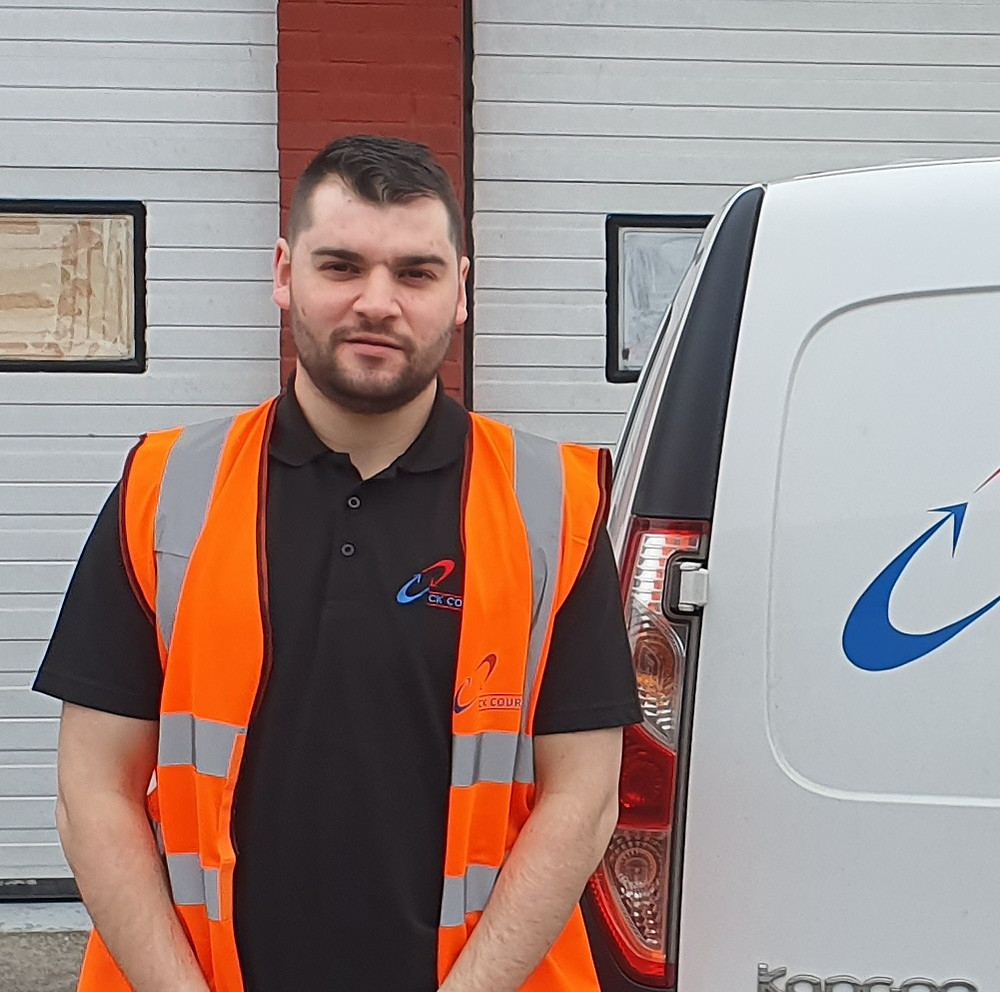 Jordan Firth, Team Member at CK Couriers Liverpool.