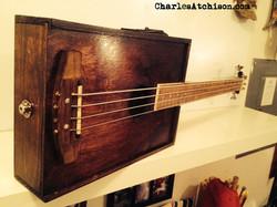 Wine box bass guitar