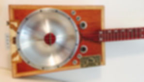 Hand Spun Aluminum Cigar Box Guitar Resonator Cones by Charles Atchison