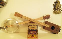 Hubcap banjo and Relic 4 string CBG