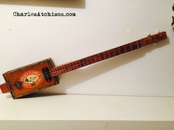 Relic style 3 string CigarBox Guitar