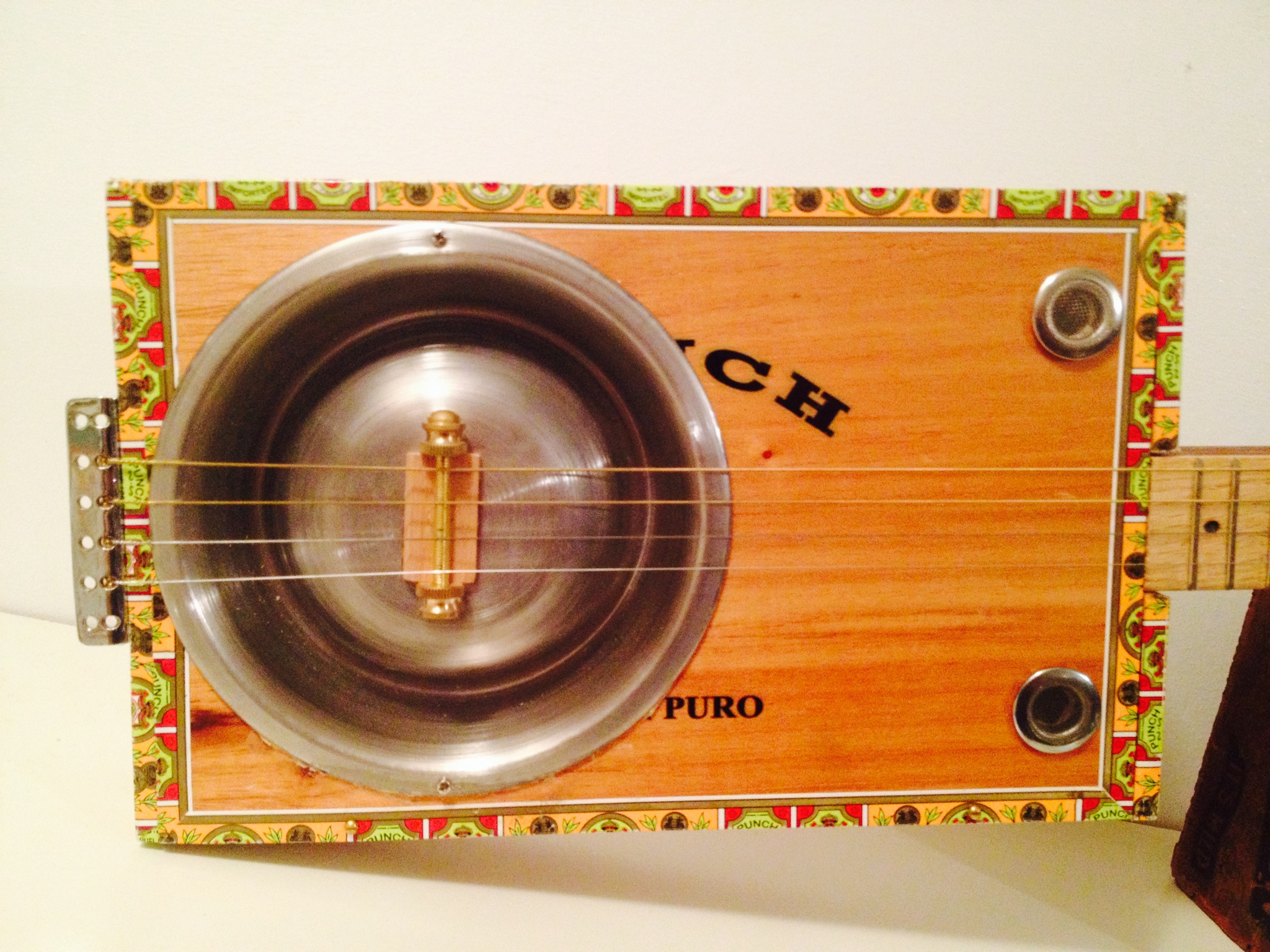 Pet Dish Cigar Box Resonator Guitar