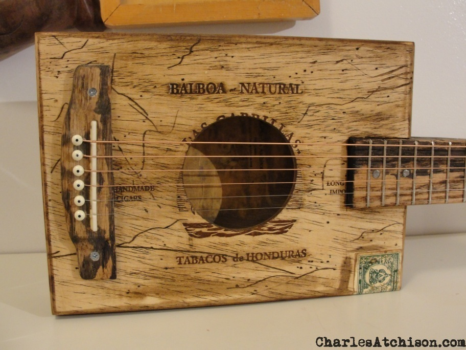 Relic 6 string Cigar Box Guitar