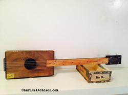 relic style cigar box guitar