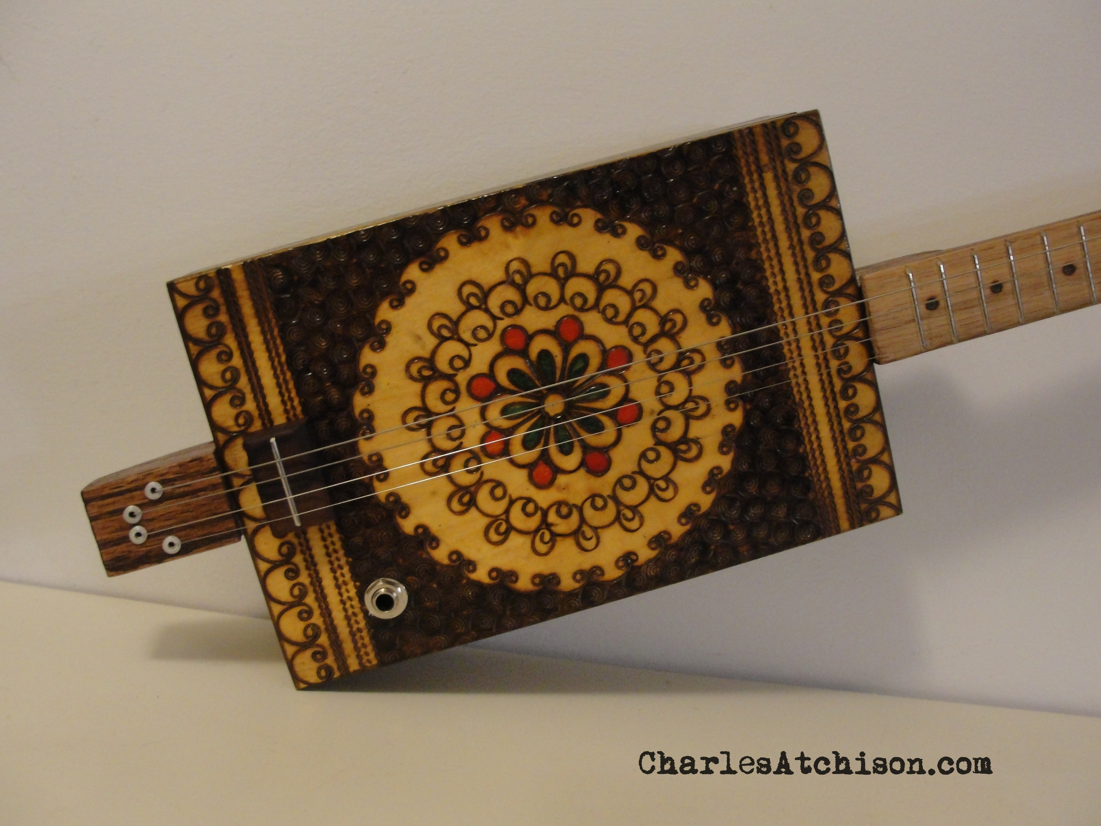 4 String Pyrography Guitar