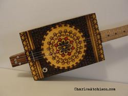 4 String Pyrography Guitar