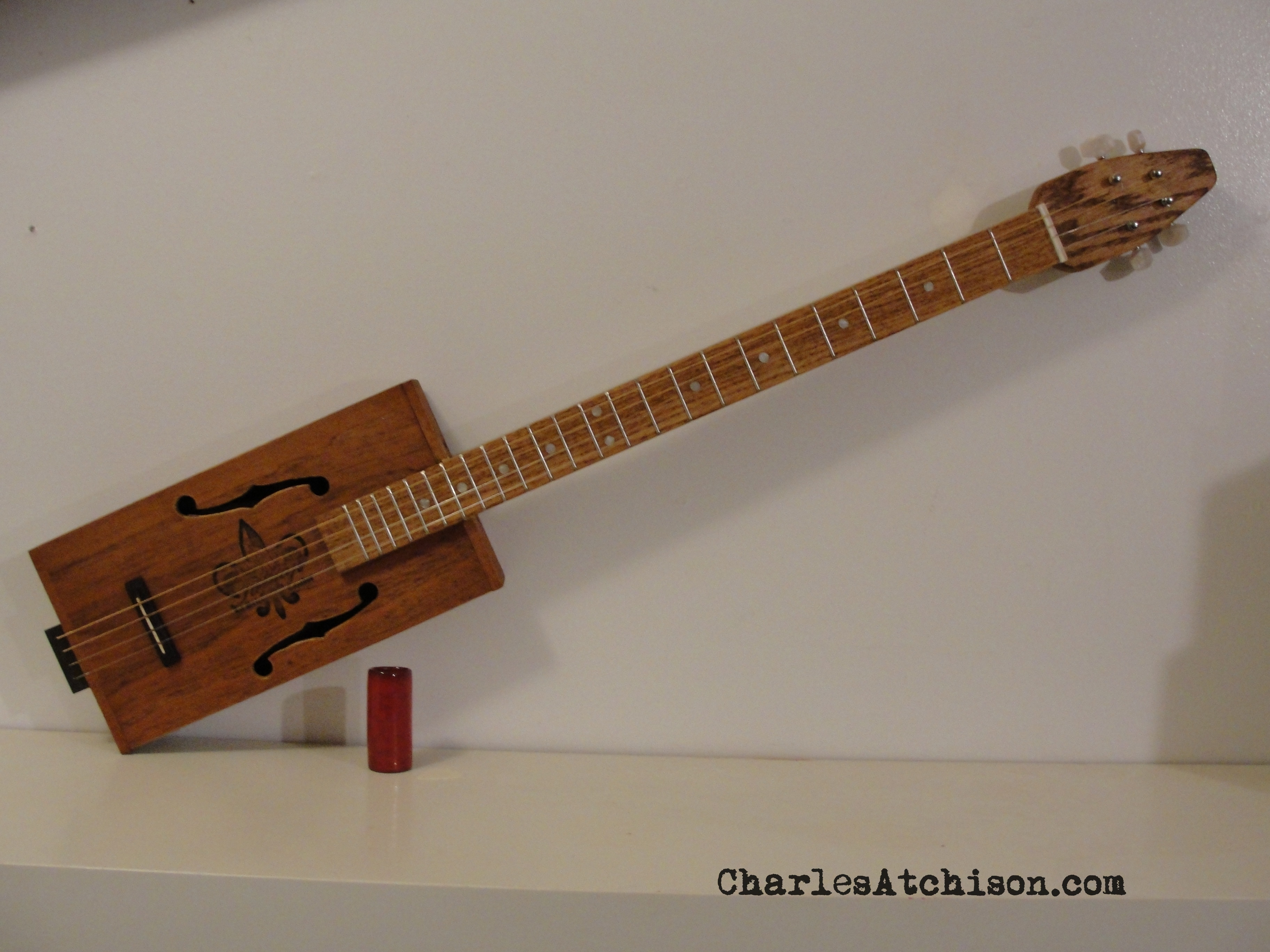 4 String fretted Cigar Box Guitar