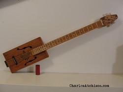 4 String fretted Cigar Box Guitar