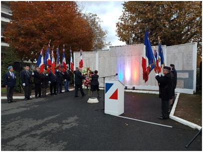 Cérémonie d'hommage aux régiments de dragons et d'infanterie de ST ETIENNE