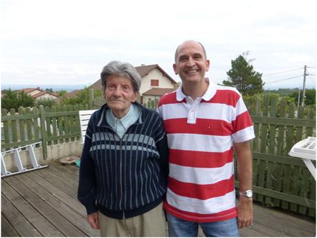LE COQUELICOT 42 rend visite à Claude CLAVIER,  95 ans