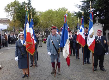 Cérémonie du Souvenir Français au Cimetière du Crêt de Roch à ST ETIENNE