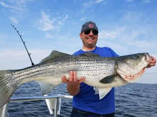 Nice out on the water today, just reeled in this Whopper!