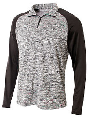 Lightweight 1/4 Zip Long Sleeve Polo with embroidered Ranger Diamond