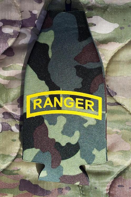 Ranger bottle koozie with zipper