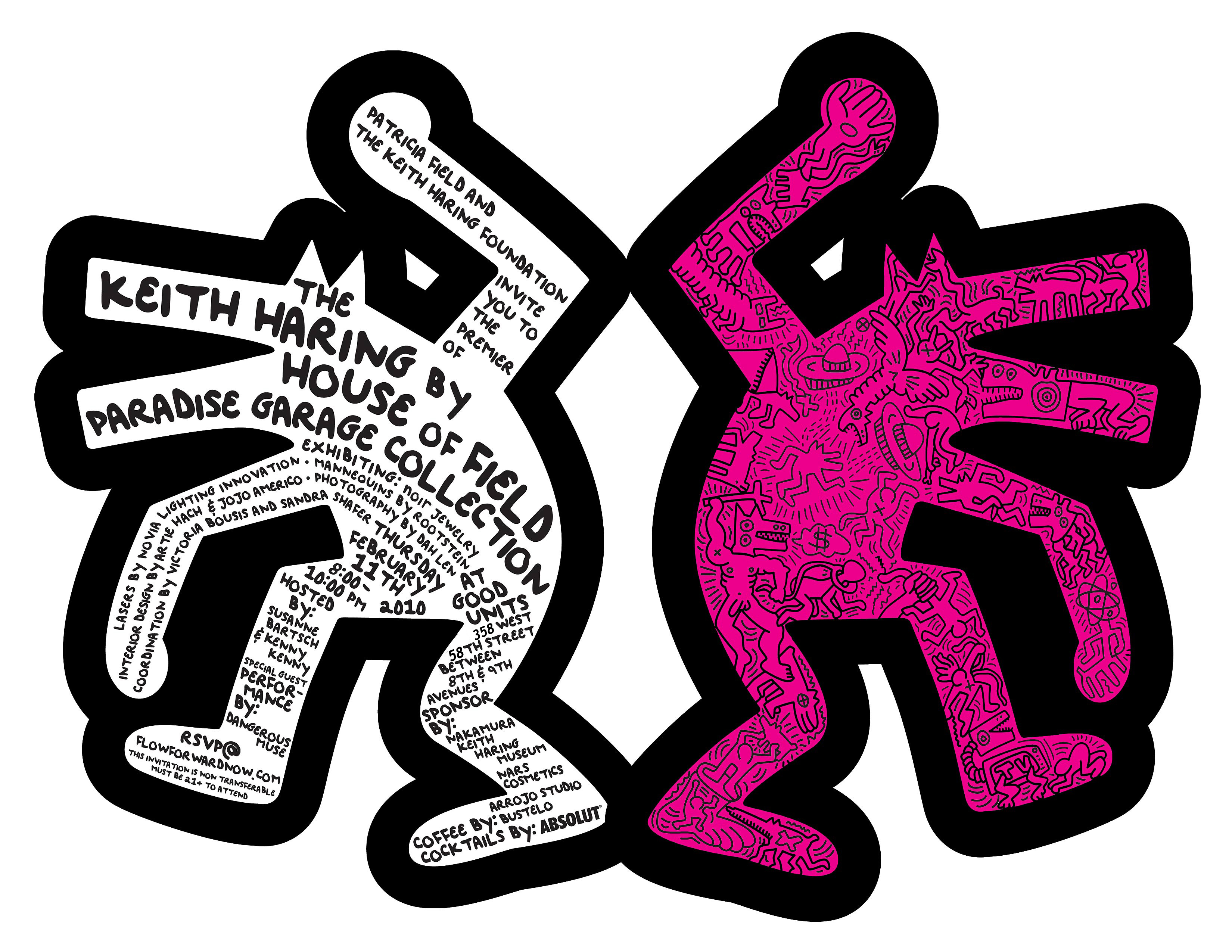 Keith Haring Invitation