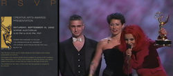 Receiving 2002 EMMY Award