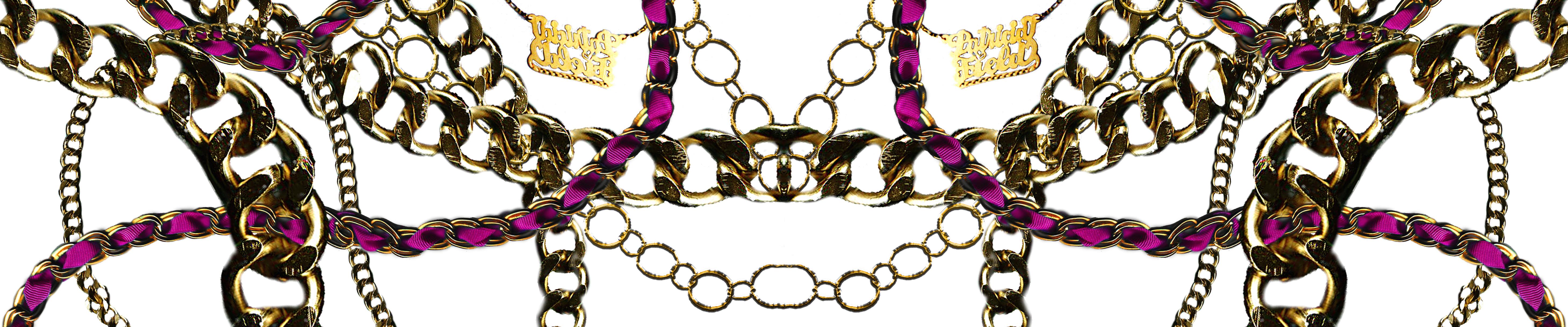 Gold Chain Print