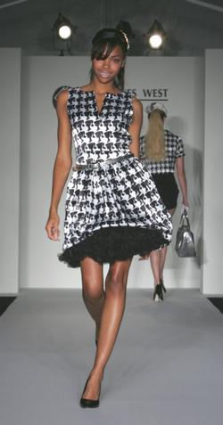 barbie handtooth print dress